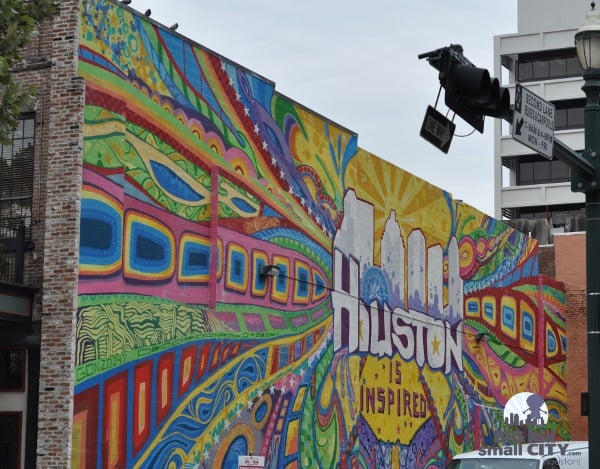 Houston is Inspired Mural by Market Square Park