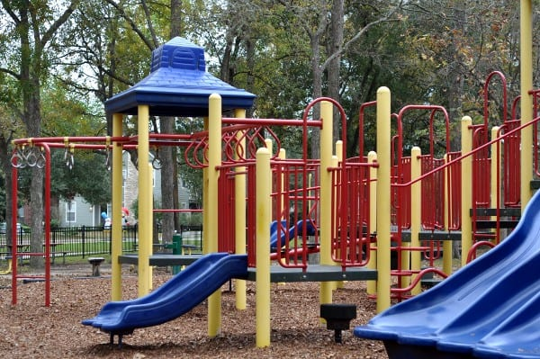 Monkey Bars and Slides at Evergreen Park in Bellaire