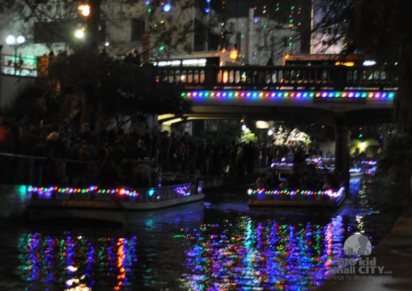 San Antonio River Walk Boat Tour at Christmas