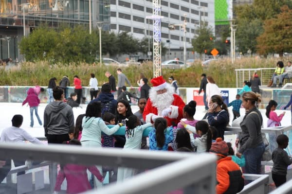 Skate with Santa at Discovery Green