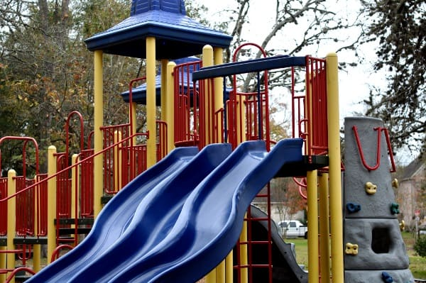 Slides at Evergreen Park in Bellaire