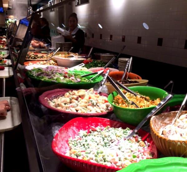 Cleburne Cafeteria Food Line