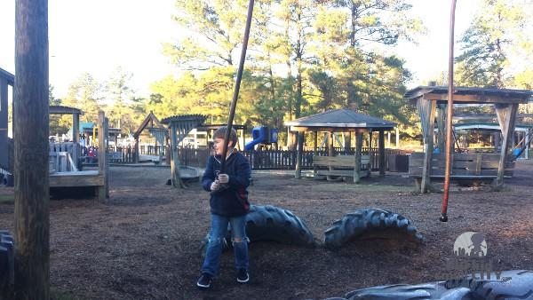 Jerry Matheson Park Swinging Ropes Ninja Warrior Playground