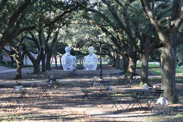 Rice University Sitting Sculptures