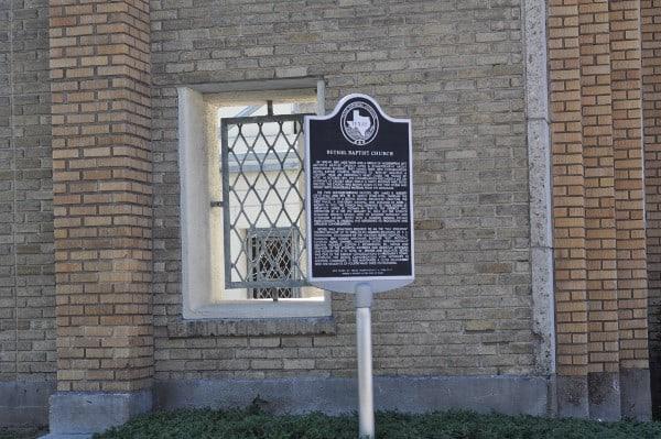 Bethel Baptist Church Historical Marker