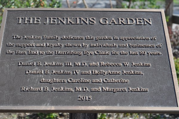 Jenkins Park Dedication Sign