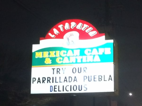La Tapatia Sign
