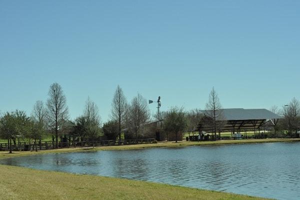Memorial Park Sugar Land Lake and Playground