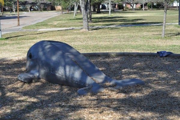 Meyerland Park Whale Slide
