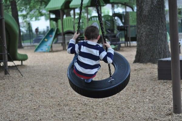 River Oaks Pumpkin Park Tire Swing