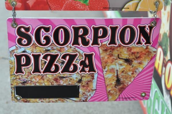 Rodeo Houston Scorpion Pizza at Pizza on a Stick