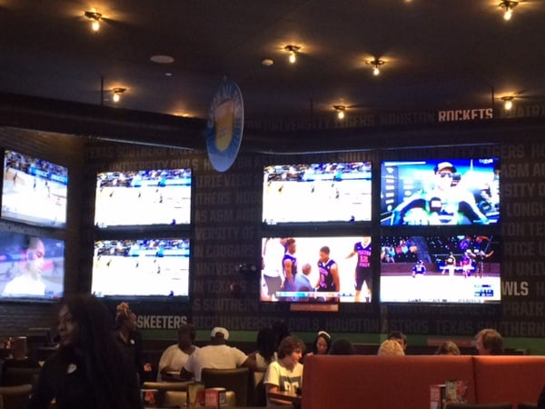 Sports on TV at Dave and Busters