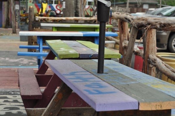 The Shack Cypress Picnic Tables