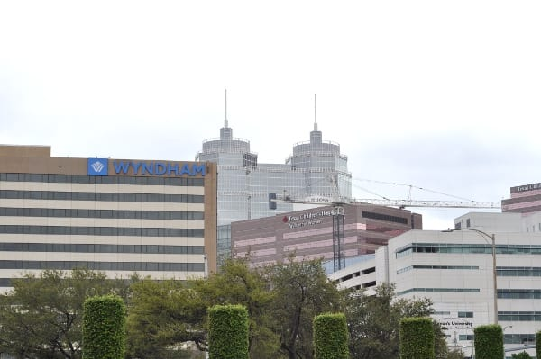View of Medical Center from Wortham Park