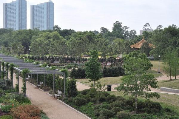 Hermann Park Centennial Gardens from Mound