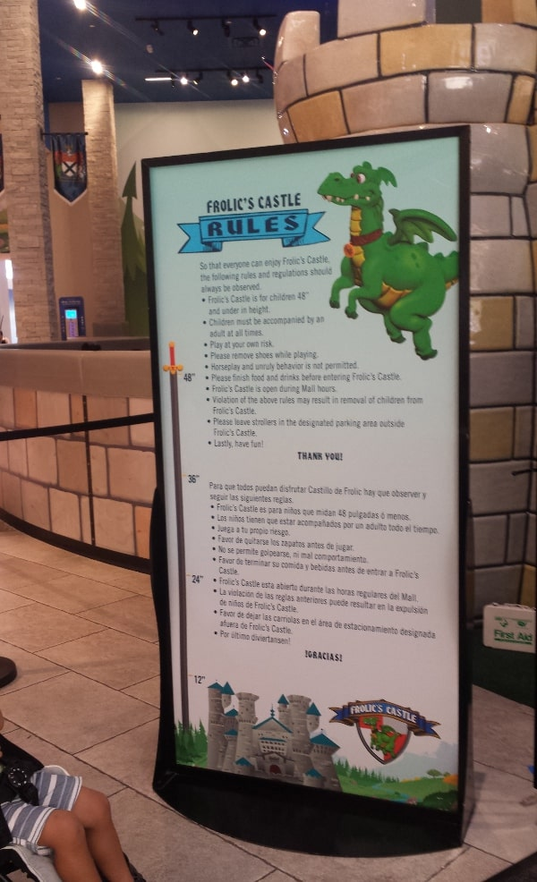 Frolics Castle Rules at Memorial City Mall