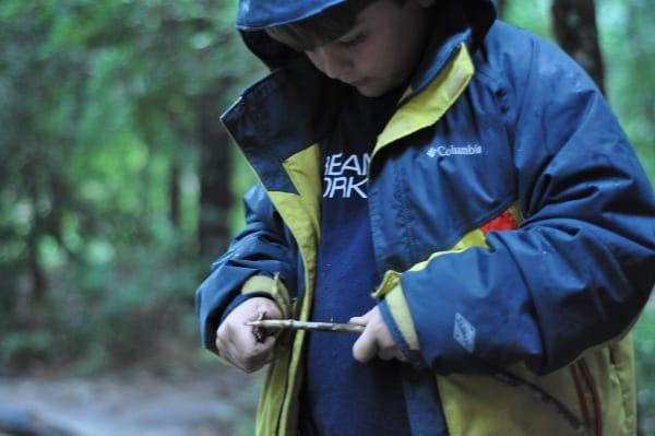 Lake Houston Wilderness Park Making Marshmallow Stick BigKidSmallCity