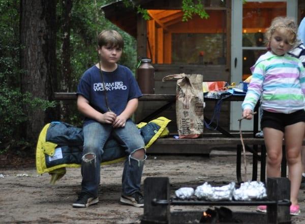 Lake Houston Wilderness Park Roasting Marshmallows BigKidSmallCity