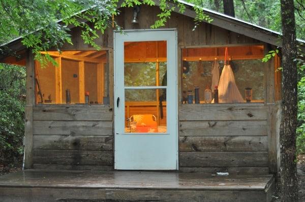 Lake Houston Wilderness Park Screened Shelter Lit Up BigKidSmallCity