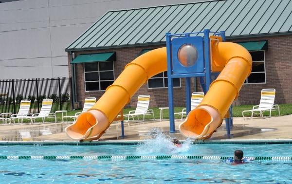 Quillian Center Pool Slides