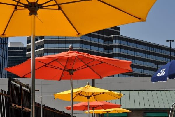 Quillian Center Pool Umbrellas