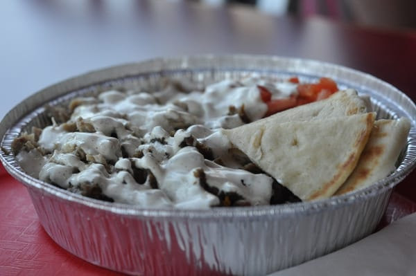 The Halal Guys Combo Beef and Chicken Platter