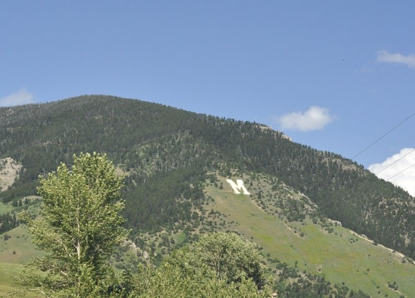 Bozeman Montana College M Mountain and trail