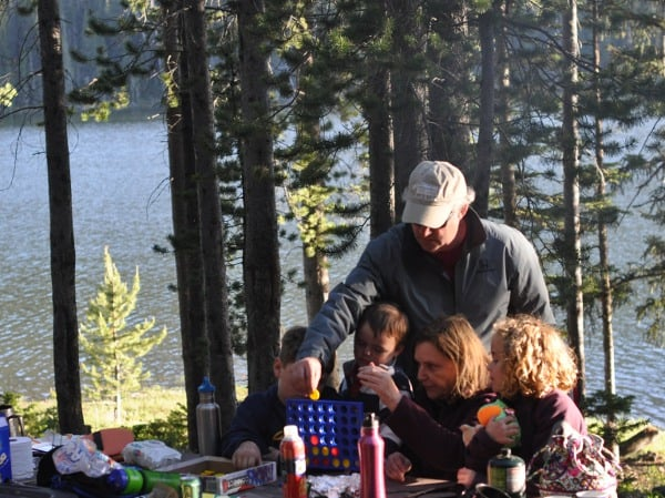 Camping Trip Connect 4 Game Montana