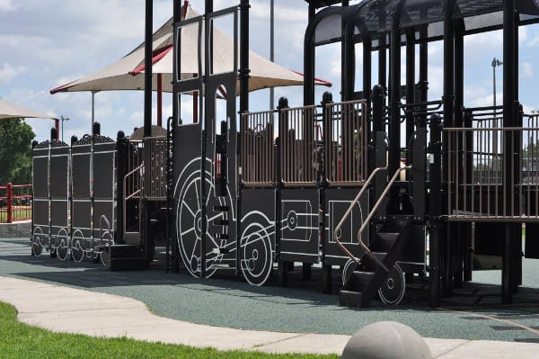City of Katy Play Station Train Play Structure