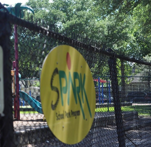 Houston Spark Park Sign at Field Elementary