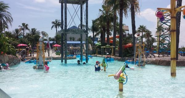 Moody Gardens Water Park Palm Beach Play Area