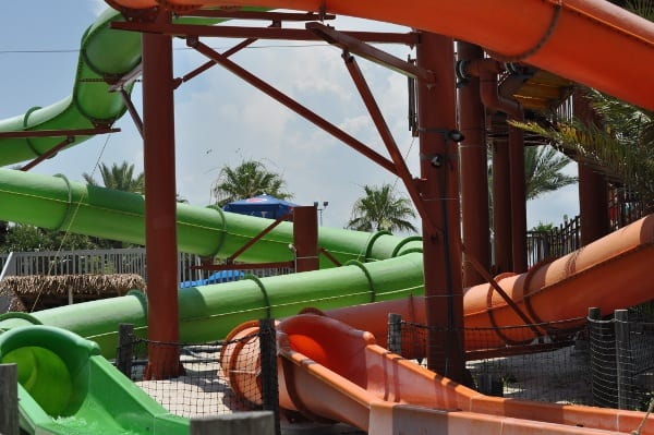 Moody Gardens in Galveston Palm Beach Slides