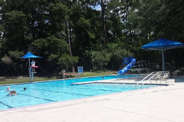 Ridgewood Park Pool Slide The Woodlands