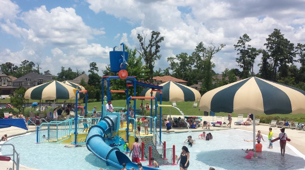 Rob Fleming Park And Pool In The Woodlands Beach Entry Slides And Lazy River