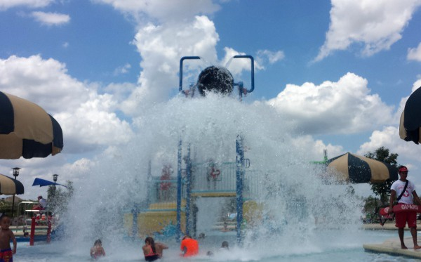 Rob Fleming Park Pool Water Dumping at Beach Entry