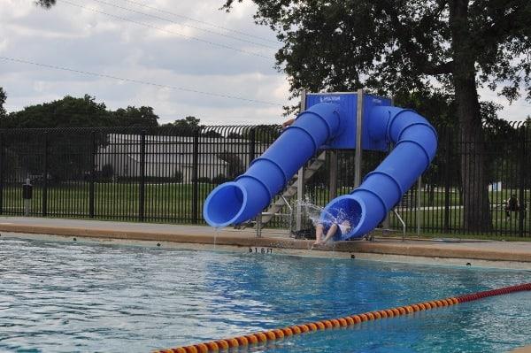 TC Jester Park Pool Slides