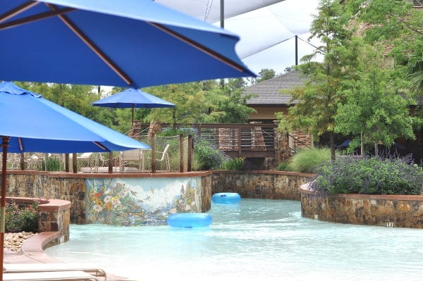 The Woodlands Resort Lazy River and Bridge BigKidSmallCity
