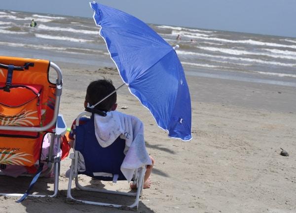 Beach Chairs at Galveston West Beach