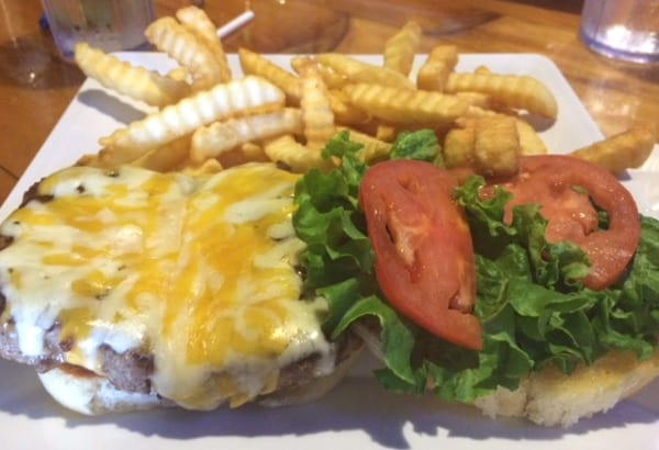 Blue Water Seafood Cheeseburger