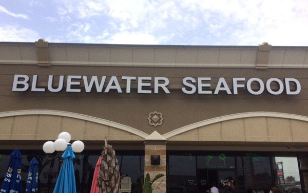 Blue Water Seafood Restaurant Outside