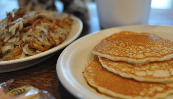 Buffalo Grille Voss Pancakes and Hashbrowns