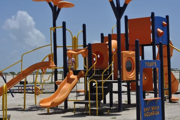 East Beach Galveston Playground Equipment