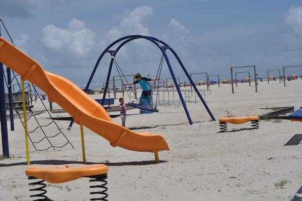 East Beach Playground in Galveston