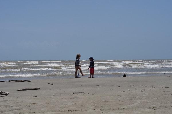 Galveston Island State Park Beach Digging