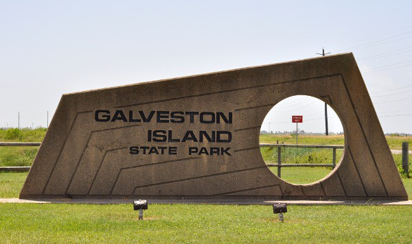 Galveston Island State Park Sign