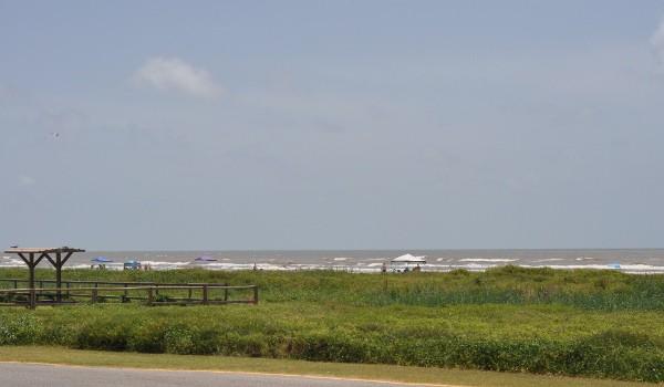Galveston Island State Park View of Beach