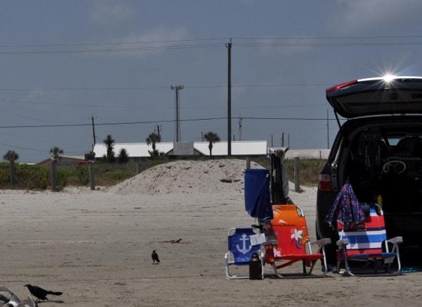 Galveston West Beach Parking on Beach
