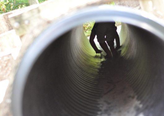 Houston Arboretum Playground Tube Tunnel