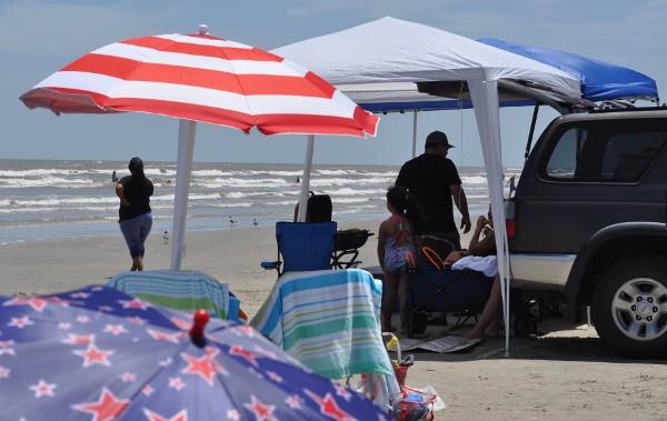 Jamaica Beach Galveston Island Cars on Beach