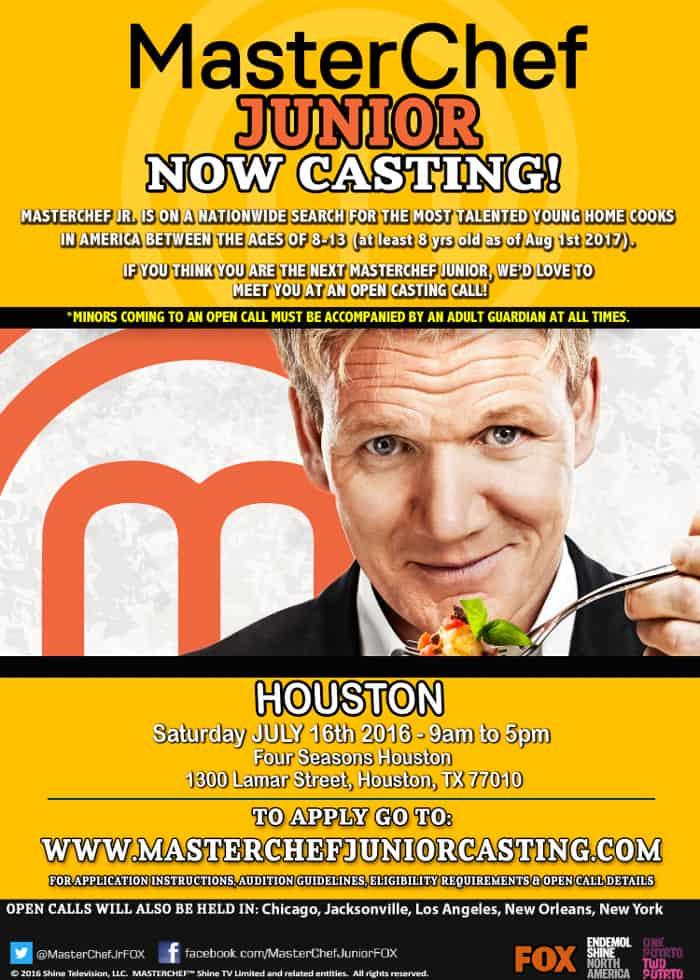 Master Chef Junior Houston Flyer
